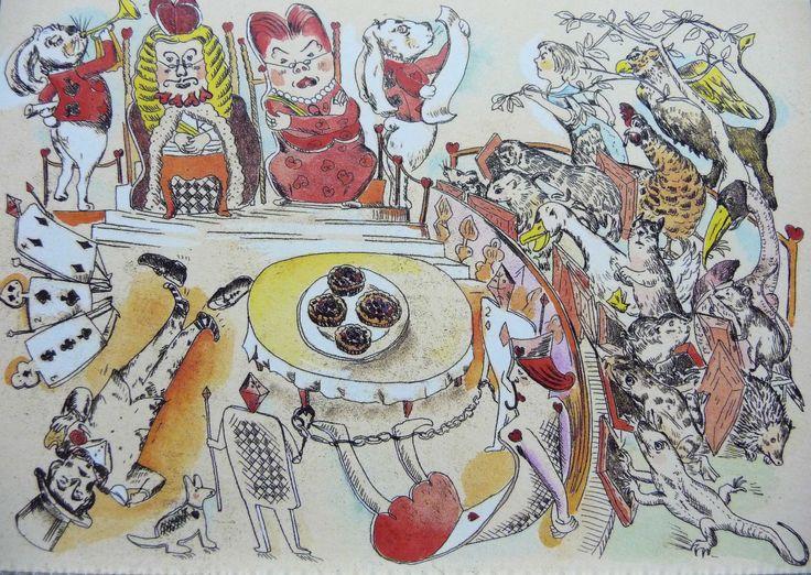 """Alice in Wonderland"" illustration by  Yoko Yamamoto"