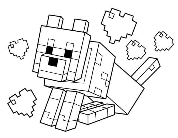 Minecraft Dog Sitting Coloring Pages Lego Coloring Pages Minecraft Printables Minecraft Coloring Pages