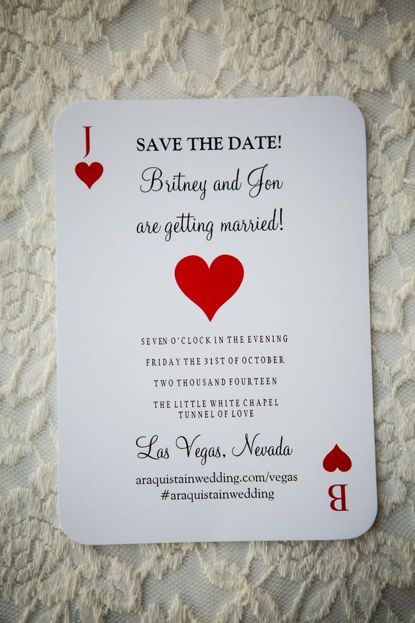 las vegas save the date deck of cards