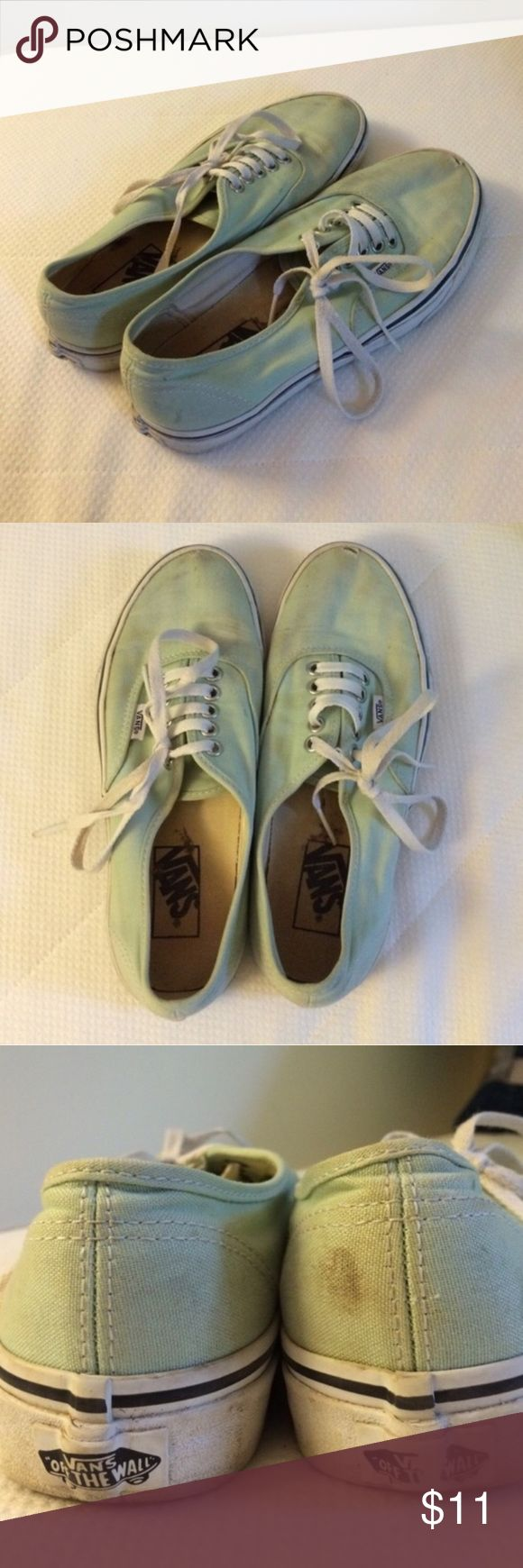 Teal VANS Teal/green color, small hole at the top of each shoe as shown in pics, Woman's size 8 Vans Shoes