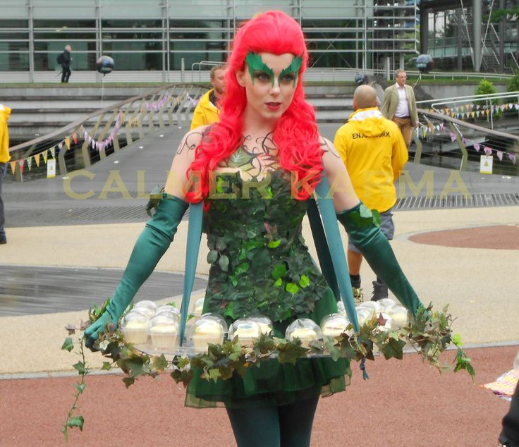 SUPERHEROES  to hire - POISON IVY canape hostess for your SUPERHEROES themed party and corporate events. www.calmerkarma.co.uk    Tel:  0203 602 9540 Available to hire across the UK inc London, manchester, cheshire, Birmingham, Belfast