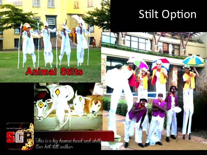 Various Stilt walker Characters to suite your Carnival theme