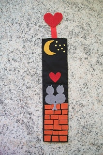 cat felt bookmark