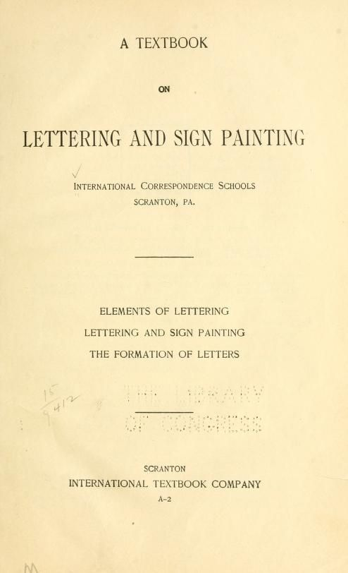73 best sign painting images on pinterest painted plates a textbook on lettering and sign painting malvernweather Gallery