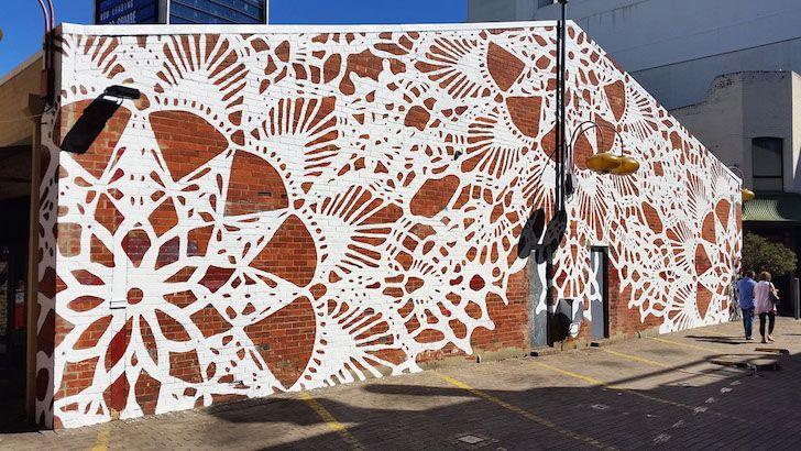 Street Art that Looks Like Lace - Amazing Urban Artwork