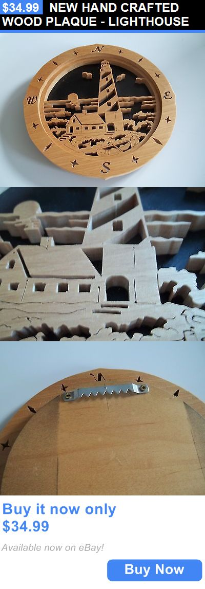 Home Decor: New Hand Crafted Wood Plaque - Lighthouse BUY IT NOW ONLY: $34.99
