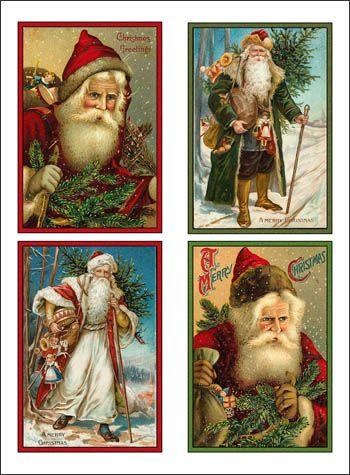 free postcard images vintage | Surfing for Freebie Christmas Printables