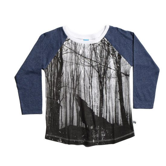 Little Horn Forest Raglan Tee