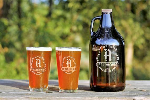 Personalized Beer Growler, Engraved Growler, Custom Beer Gifts, Beer Growler, Growler, Gifts for Dad, 64oz Growler, Engraved Growler