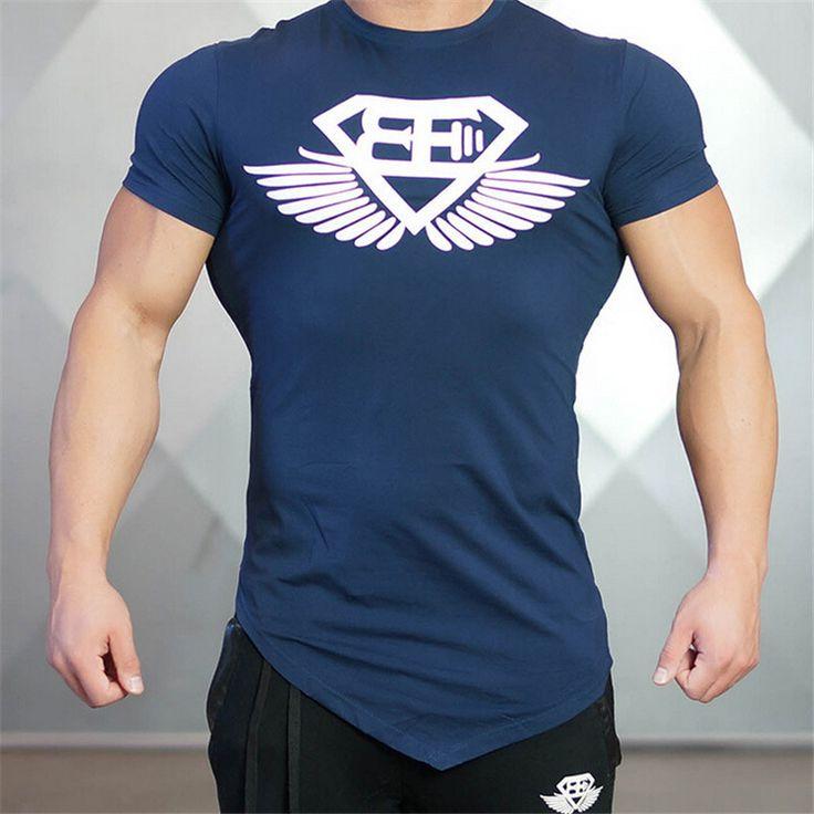2016 Spier Brothers Gymshark mannen T-shirt Slanke Dunne Modale Zomer T-shirt Merk Fitness Bodybuilding Stringer