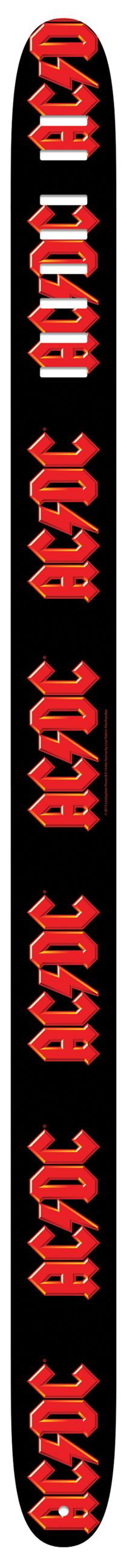 """Official Licensed Product - 2.5"""" ACDC Guitar Strap With High Resolution Imaging- Adjustable from 44.5"""" to 53""""  Made in Canada"""