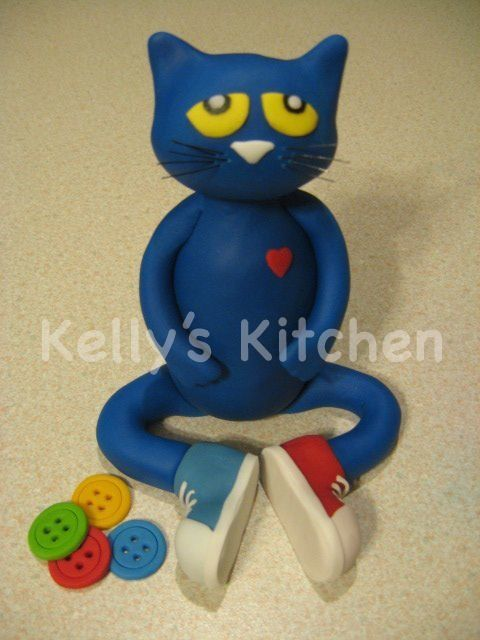 Pete The Cat Cake Topper
