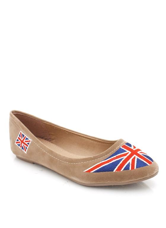 Union Jack pointy toe flats #shoes #BritishRandom Things, Imgth 300300