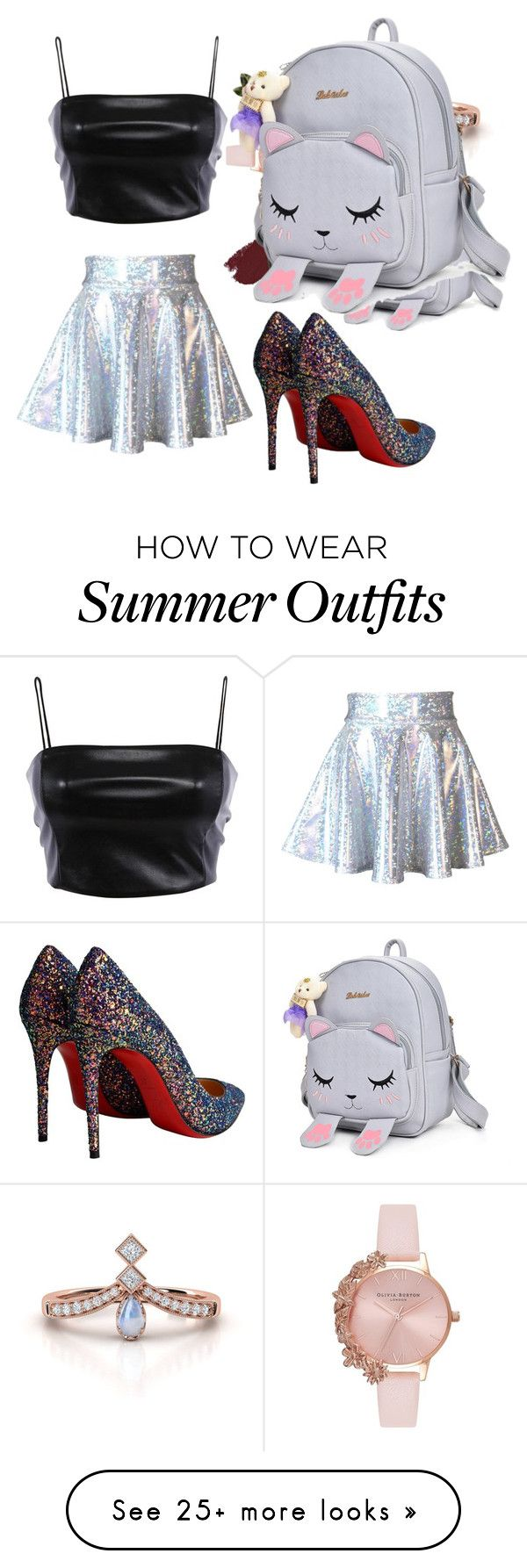 """""""My First Polyvore Outfit"""" by ma-denise-rogando on Polyvore featuring Christian Louboutin, Olivia Burton, Dolce&Gabbana and L.A. Girl"""