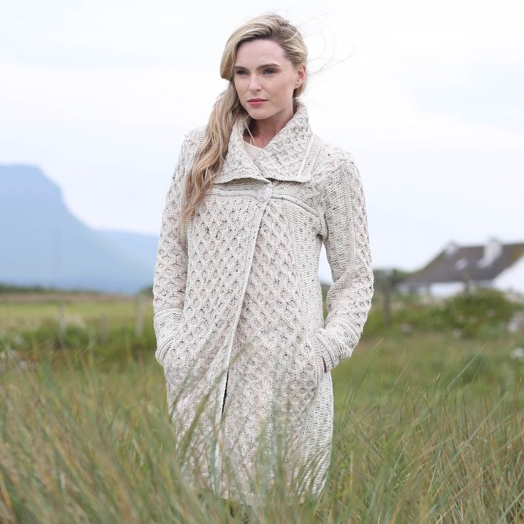 Ladies Single Button Plated Coat by Natallia Kulikouskaya for West End Knitwear, Ireland