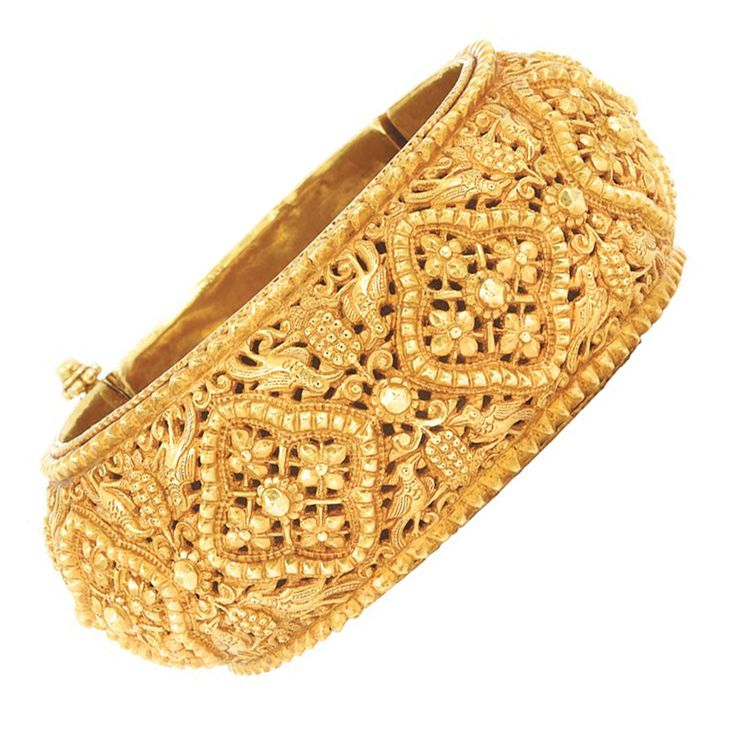 Indian Gold Cuff Bangle Bracelet