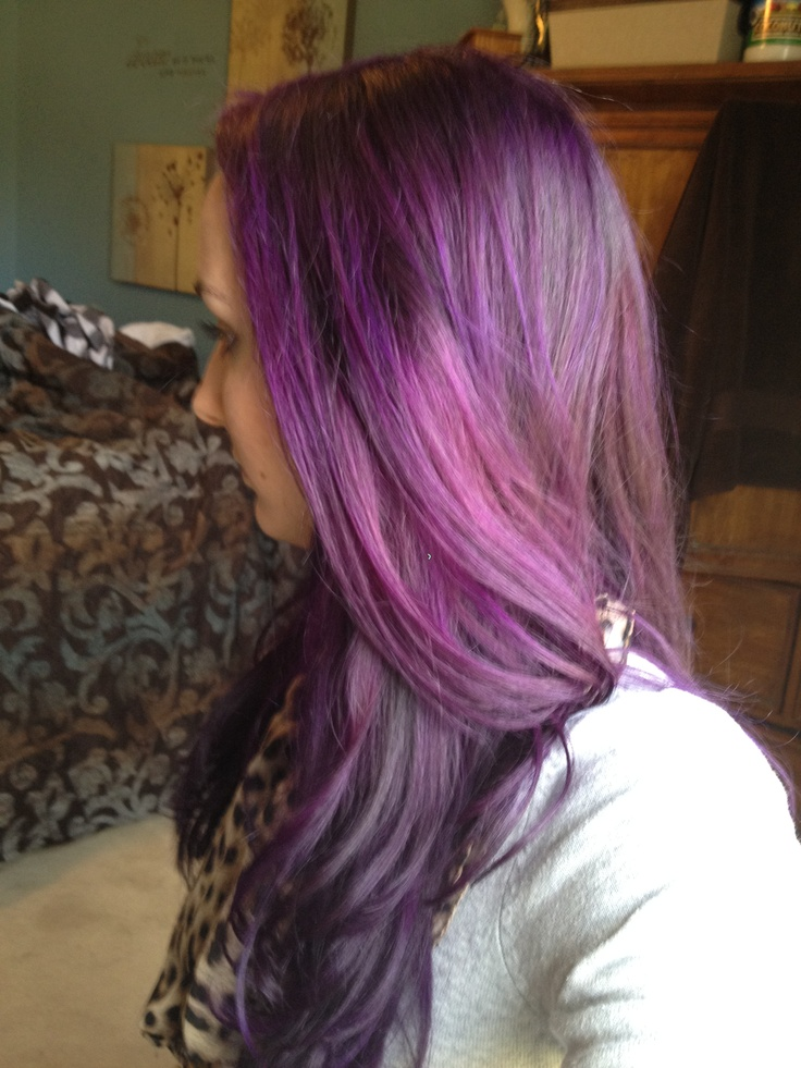 My Purple Hair After 2 Months With One Root Touch Up