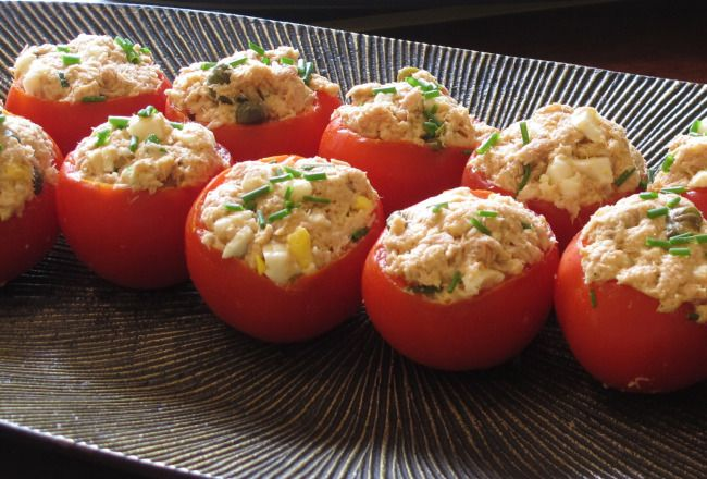stuffed tomatoes - great for brunch, a tea party or just a simple lunch with a good friend