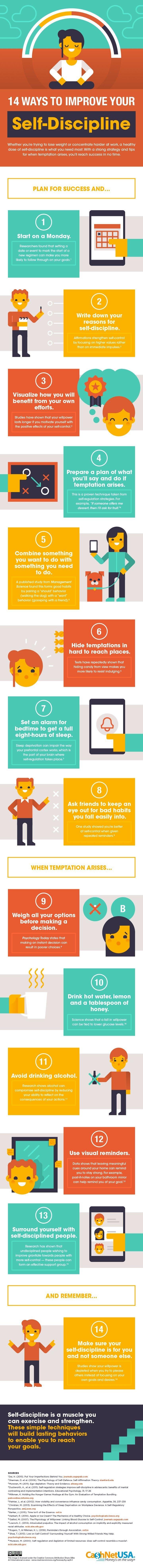 14 Ways to Improve Your Self-Discipline - #Infographic