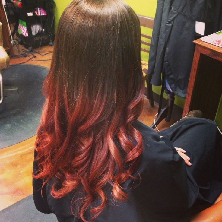 Brown to red ombré | Hair and Makeup | Pinterest | Brown ...
