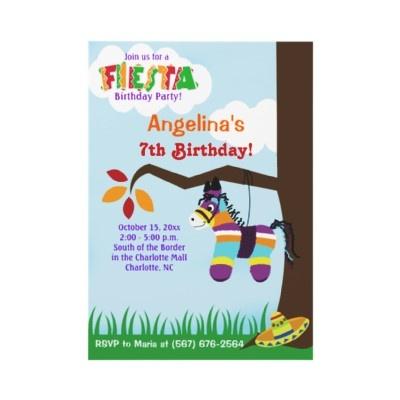 Fiesta Pinata Cinco de Mayo Birthday Invitations by allpetscherishedAdorable Pinata, Mayo Birthday, Autumn Invitations, Pinata Cinco, Fiestas Pinata, Allpetscherish Brows, Birthday Invitations, May 5, Fiestas Birthday