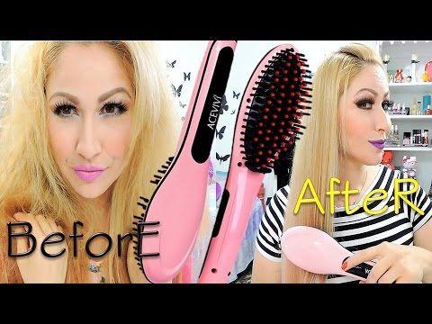 CEPILLO ALISADOR ¿Funciona o decepciona? review y demo digital hair straightener brush - YouTube