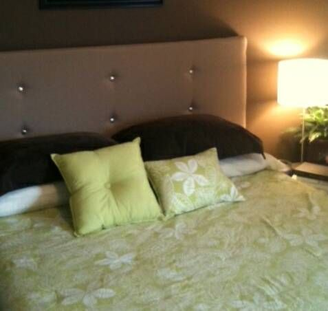How to make a contemporary upholstered headboard for under - What to use instead of a headboard ...