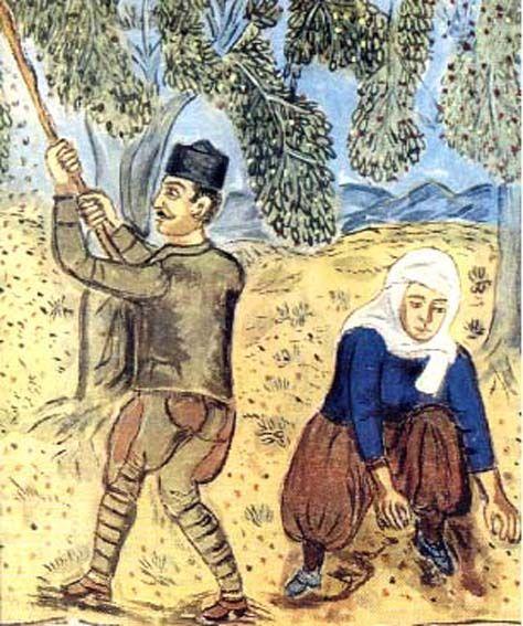"Theofilos Chatzimichail [1868-1934] ""Olive Harvest""  or ""Olive picking"" -   Google Αποτελέσματα Eικόνων για http://13dim-kerats.att.sch.gr/images/elie5.jpg"
