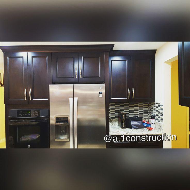 Espresso cabinets