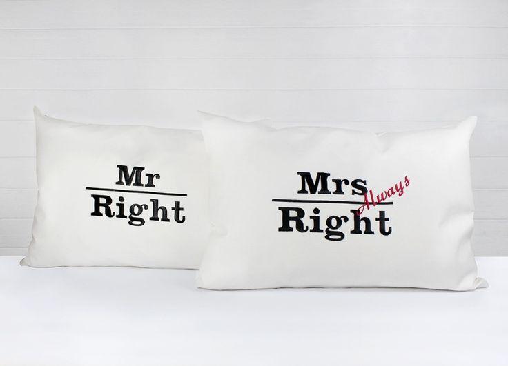 Mr. & Mrs always Right   Kissen 40x60  von dueTori via dawanda.com