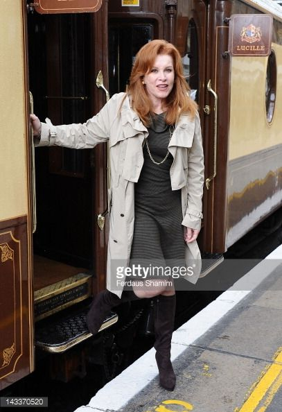 Stefanie Powers attends the launch of 'OrientExpress A Personal Journey' by James Sherwood and Ivan Fallon aboard the British Pullman train at...