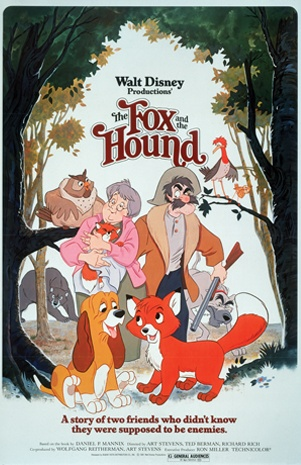 The Fox and the Hound (1981)    FACT: Disney Legend Kurt Russell voices Copper the hunting dog in The Fox and the Hound. Kurt first started acting in Disney films at the age of 15 in Follow Me, Boys! He would go on to be a part of countless other Disney films, including The Barefoot Executive and Sky High.