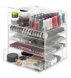 Acrylic makeup organizers are one of the most popular ways to organize your collection of cosmetics. Put these beautiful acrylic makeup organizers on top of your vanity or on your counter top in the bathroom.