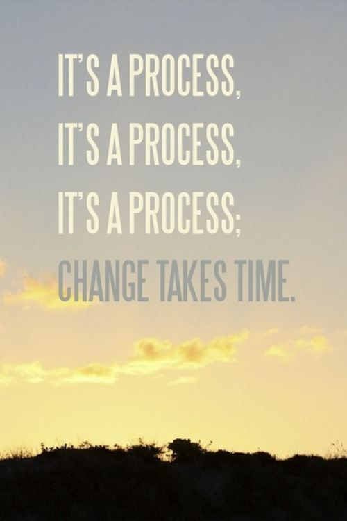 Its a slow process, but quitting wont speed it up.  Inspirational ...