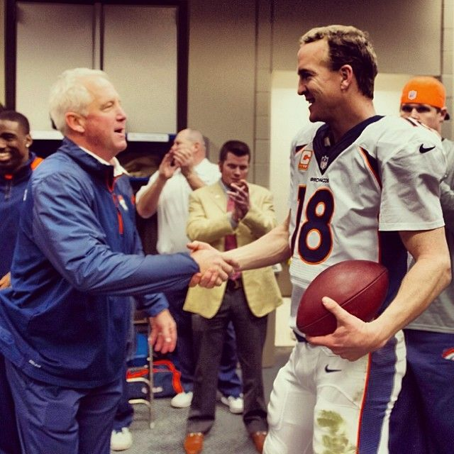 SnapWidget | Peyton Manning gets the game ball after the #Broncos' win at Houston. #DENvsHOU