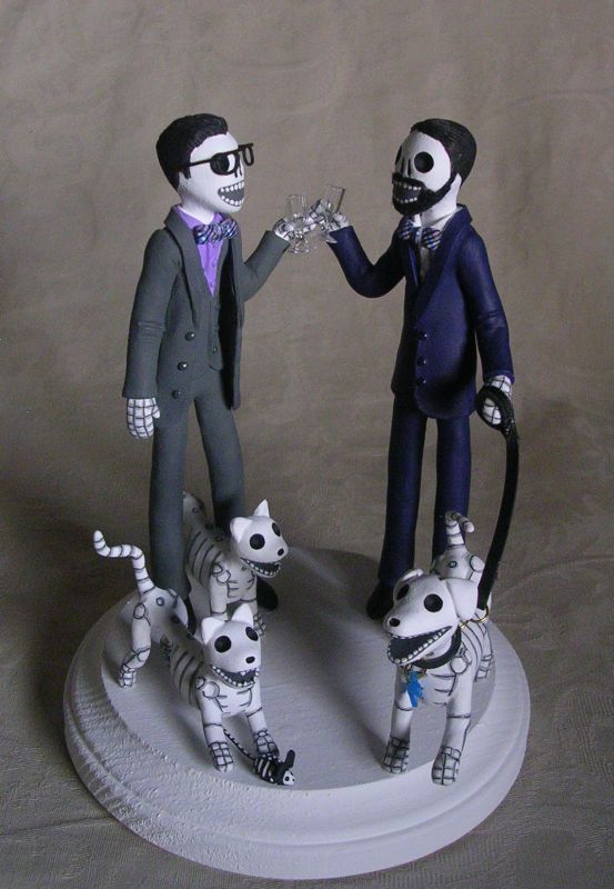 21 best Day of the Dead Wedding Cake Toppers by Clay Lindo images ...