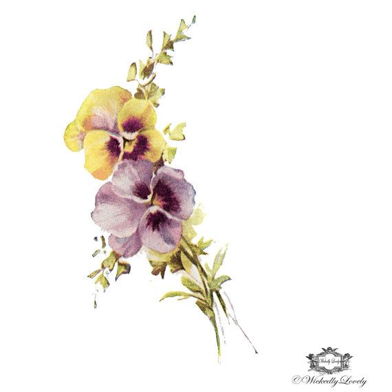 Pansies Wickedly Lovely Skin Art Temporary by WickedlyLovelyArt, £3.50