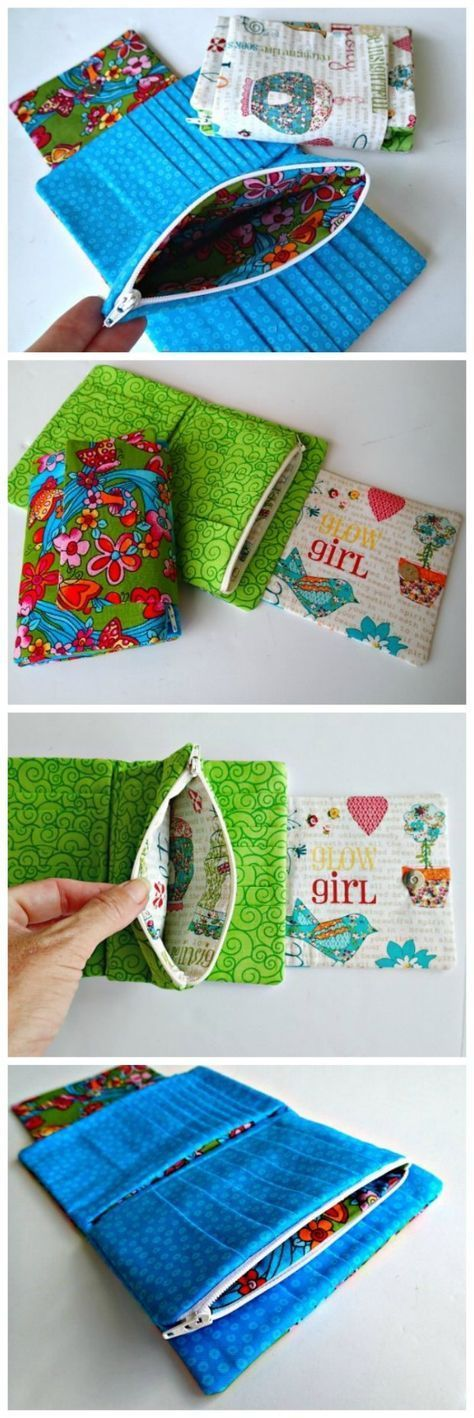 Wallet sewing pattern with room for 28 cards, plus zipper pocket, full width space for notes and even for a small phone. There's a reason this is called the Ultimate wallet!