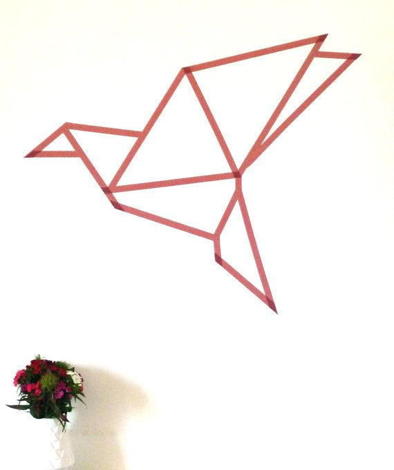 Masking Tape Origami Bird Template