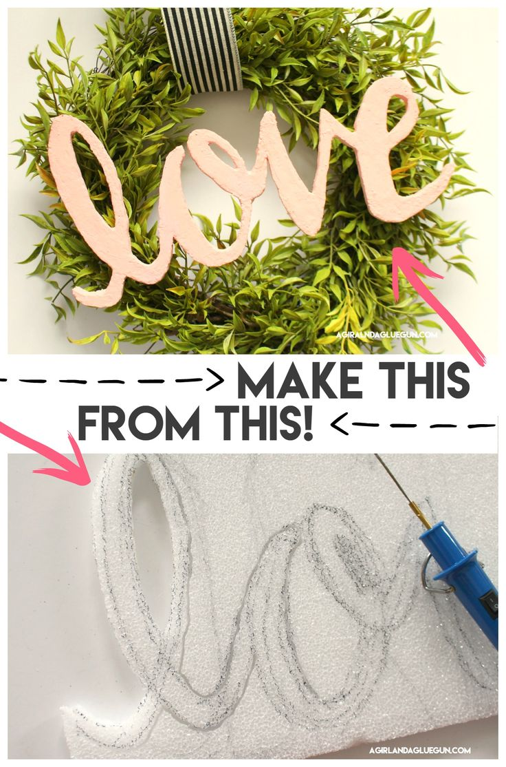 How to make words out of foam! - A girl and a glue gun #diy #crafty