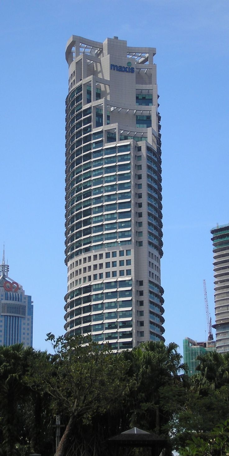 Maxis Tower, or Menara Maxis in the Malay language, is a 49-storey, 212 m (696 ft) office skyscraper in Kuala Lumpur, Malaysia. The tower serves as headquarters of Maxis Communications and Tanjong Plc Group of Companies.