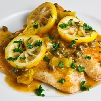 Tilapia Piccata--- one of my all-time favorite fish dishes. I like to serve it with roasted asparagus spears. easy peasy