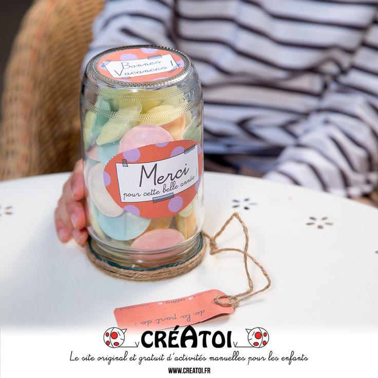 Le bocal pile-face - Un cadeau original et gourmand pour offrir à la fin de l'année scolaire !