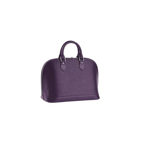 Louis Vuitton - Epi Leather Alma - eLuxury (18.730 ARS) ❤ liked on Polyvore featuring bags, handbags, louis vuitton, bolsas, lv, purple, purple bag, purple leather purse, purple handbags and real leather handbags