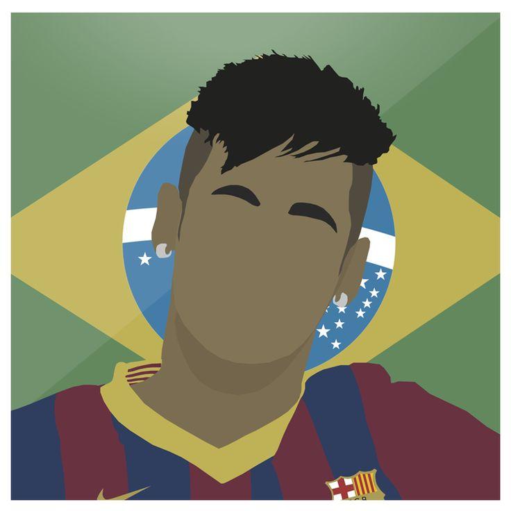Neymar   #FCB #Barca #Barcelona #Neymar #LaLiga #Brasil #Santos #Brazil #CampNou #Spain #Espana #Messi #Suarez #Football #Sport #Design #Futbol #Illustrator #Photoshop #Vector #UCL