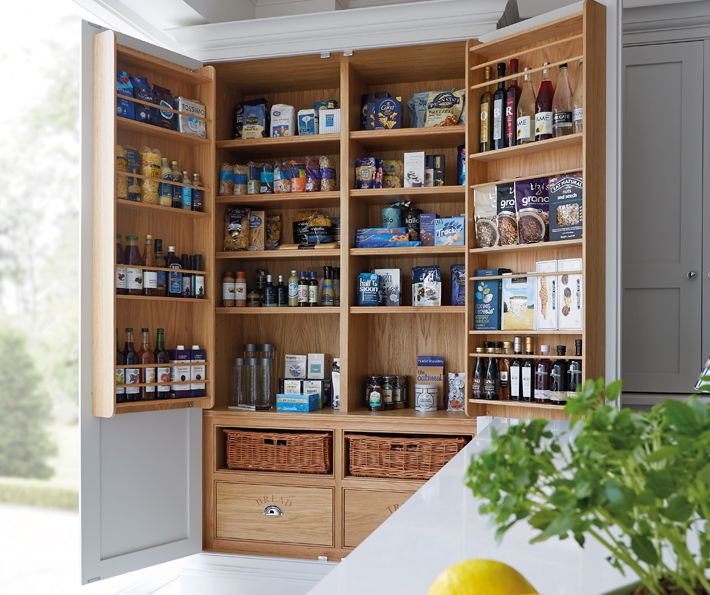Blue Painted Kitchen - Bespoke Kitchens - Tom Howley | great storage solution for the kitchen