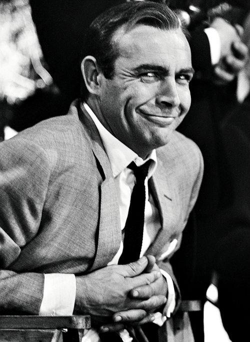 Sean Connery durante el rodaje de su primera película como James Bond.