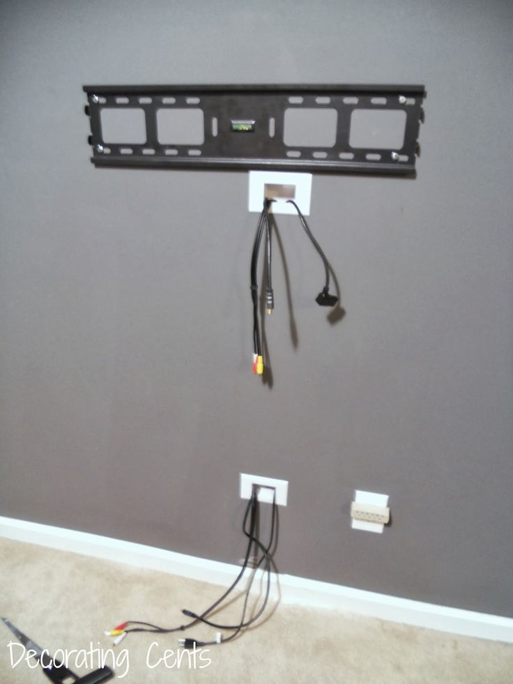 Decorating cents wall mounted tv and hiding the cords for How to hide electrical cords on wall