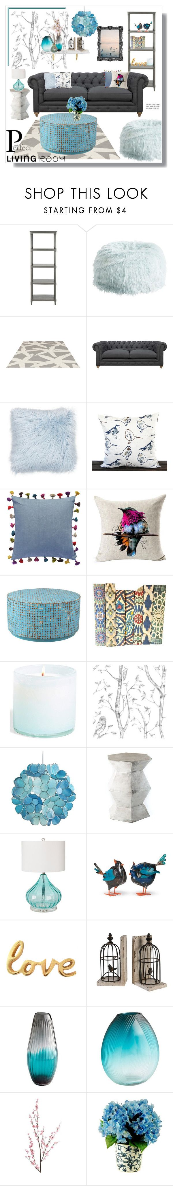 """perfect livingroom"" by artistic-biscuit ❤ liked on Polyvore featuring interior, interiors, interior design, home, home decor, interior decorating, Safavieh, PBteen, Somerset Bay and Bluebellgray"