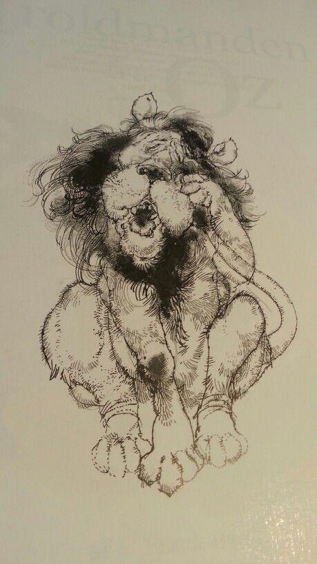 Troldmanden fra Oz. Den feje løve. Tegnet af Victor G. Ambrus